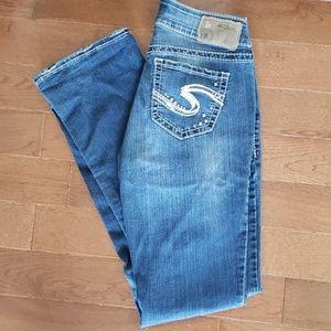 💫Silver Suki Mid Slim Boot Jeans 26